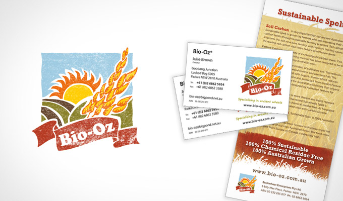 Bio-Oz Logo and print collateral - business cards and DL Flyer