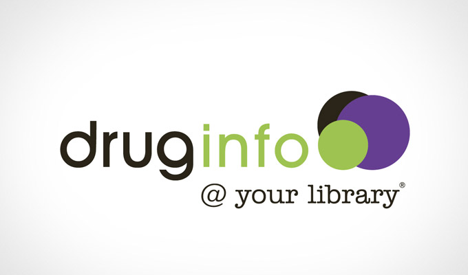 Drug Info @ your library logo design