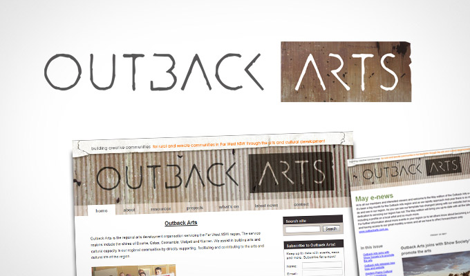 Outback Arts Logo design