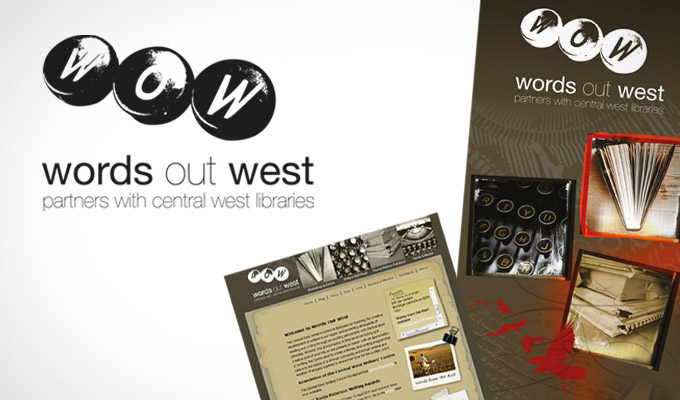 Logo, print and web design for Words Out West