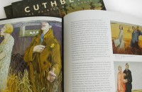 Additional inside spread - Cuthbert book illustration design layout