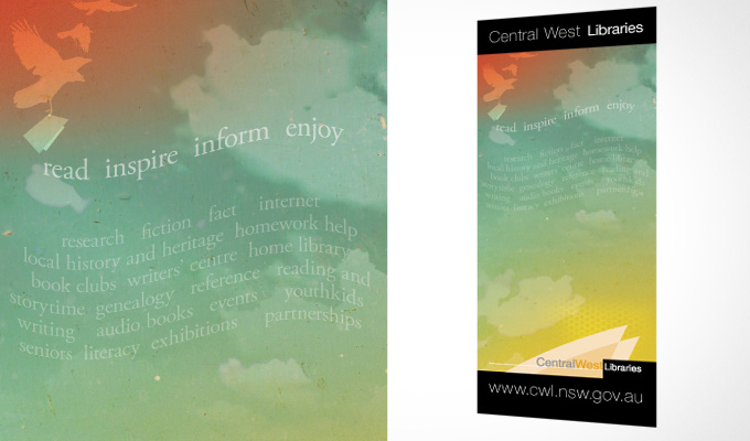Central West Libraries Pull-up banner design
