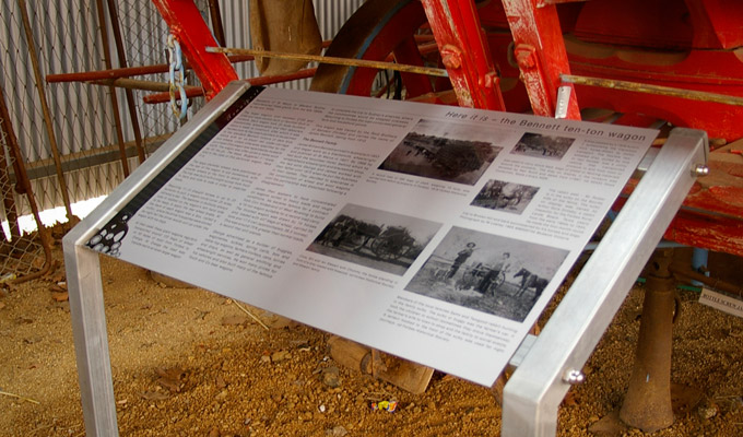 Details of display panels at the Forbes Historical Museum