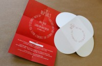 The Nuptials - poster invite and die-cut CD wallet