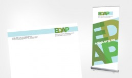 EDAP Letterhead and pull up banner design