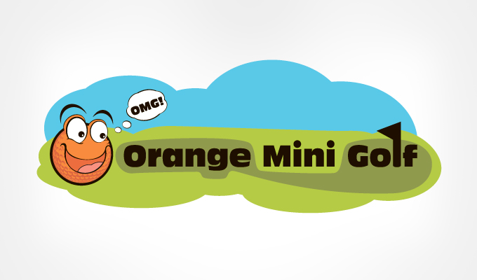 Orange-Mini-Golf-logo-design