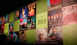 Poster wall at Orange Civic Theatre  - 2015 Subscription Season