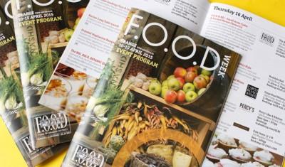 FOOD Week 2015 Event Program design by Sauce Design