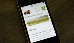 Mobile responsive Soil Management Designs site
