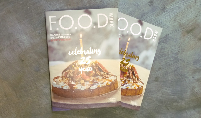 2016 FOOD Week program celebrating 25 years