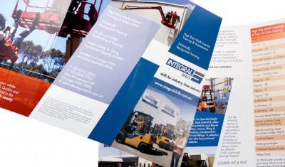 Integral Skills 6 panel corporate brochure