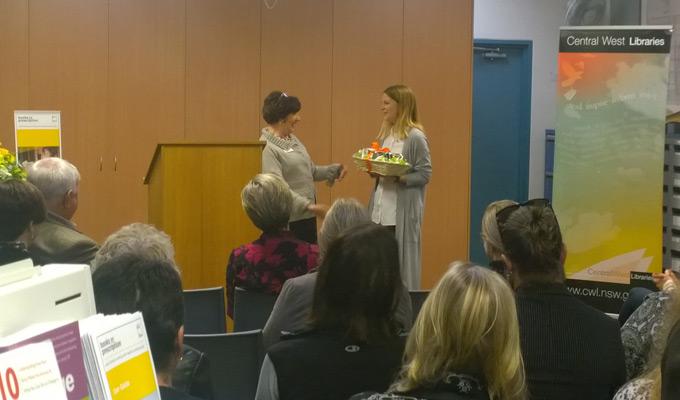 Hayley Nicholls beyondblue ambassador at the Books on Prescription launch