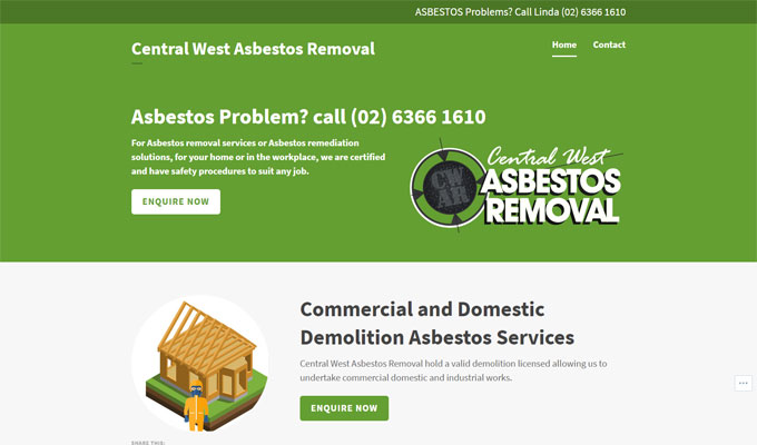 Responsive website for Central West Asbestos Removal