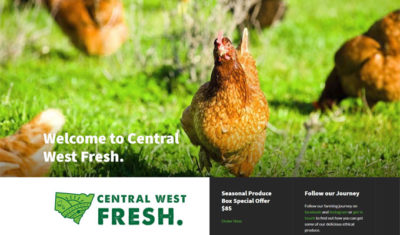 Central West Fresh website