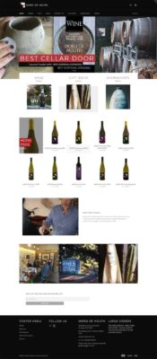 Word of Mouth Wines Home page Shopping Cart