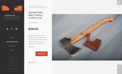 Kilmarknock Forge Product detail - Shopify eCommerce website