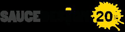 Sauce Design 20 years logo