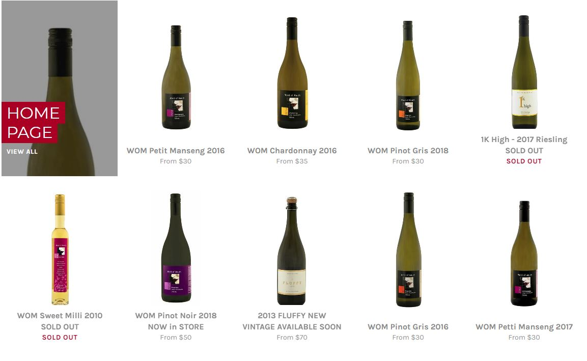 Word of Mouth - Wine - Shopify site