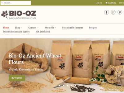 Website design for Bio-Oz on Shopify