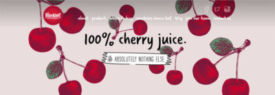 Bite Riot Cherry Juice promotion