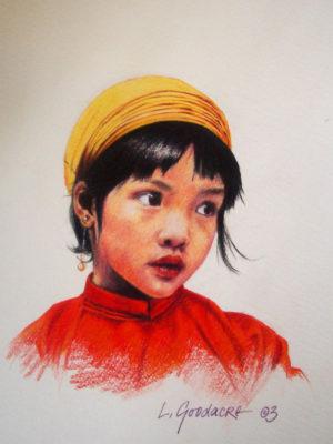 Portrait of Kira Brown by Laretta Goodacre